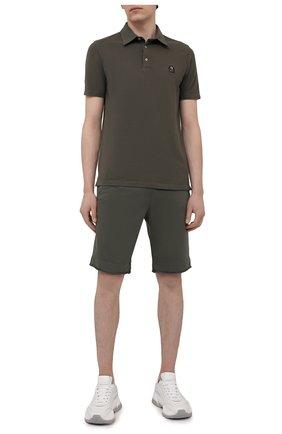 Мужские хлопковые шорты PARAJUMPERS хаки цвета, арт. CF06/C0LT0N   Фото 2