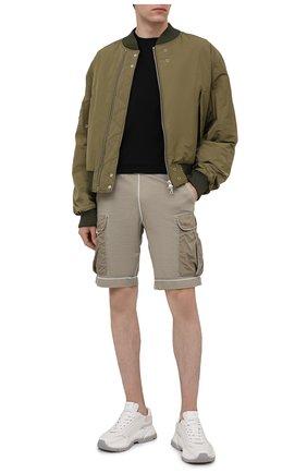 Мужские шорты PARAJUMPERS хаки цвета, арт. FN14/IRVINE   Фото 2 (Стили: Спорт-шик; Длина Шорты М: До колена; Принт: Без принта; Материал внешний: Синтетический материал, Хлопок; Кросс-КТ: Трикотаж)