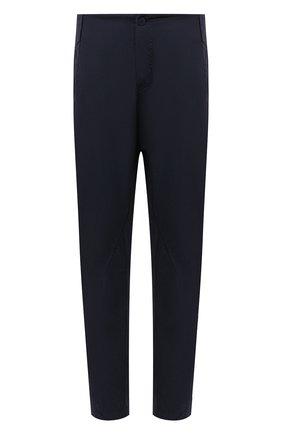 Мужские хлопковые брюки TRANSIT темно-синего цвета, арт. CFUTRNB110 | Фото 1 (Стили: Минимализм; Длина (брюки, джинсы): Стандартные; Силуэт М (брюки): Чиносы; Материал внешний: Хлопок; Случай: Повседневный)
