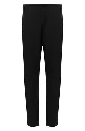Мужские хлопковые брюки TRANSIT черного цвета, арт. CFUTRNB110 | Фото 1 (Случай: Повседневный; Длина (брюки, джинсы): Стандартные; Силуэт М (брюки): Чиносы; Материал внешний: Хлопок; Стили: Минимализм)