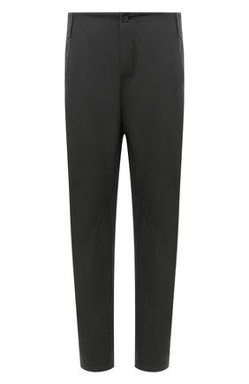 Мужские хлопковые брюки TRANSIT темно-серого цвета, арт. CFUTRNB110 | Фото 1 (Стили: Минимализм; Материал внешний: Хлопок; Длина (брюки, джинсы): Стандартные; Силуэт М (брюки): Чиносы; Случай: Повседневный)