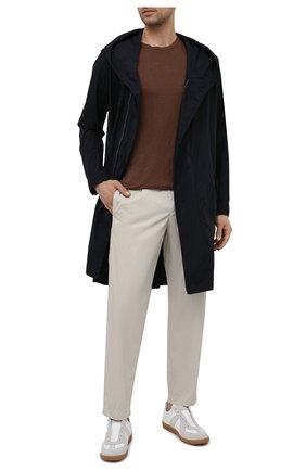 Мужские хлопковые брюки TRANSIT бежевого цвета, арт. CFUTRNB111 | Фото 2