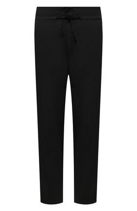 Мужские хлопковые брюки TRANSIT черного цвета, арт. CFUTRNB111 | Фото 1