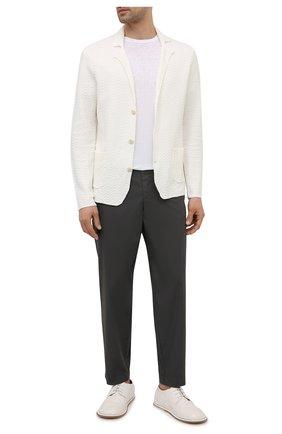 Мужские хлопковые брюки TRANSIT темно-серого цвета, арт. CFUTRNB111 | Фото 2
