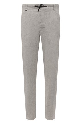 Мужские брюки изо льна и вискозы TRANSIT светло-серого цвета, арт. CFUTRNI180 | Фото 1
