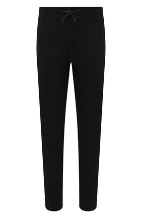 Мужские брюки изо льна и вискозы TRANSIT черного цвета, арт. CFUTRNI180 | Фото 1