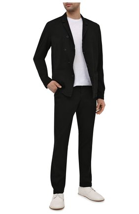 Мужские брюки изо льна и вискозы TRANSIT черного цвета, арт. CFUTRNI180 | Фото 2