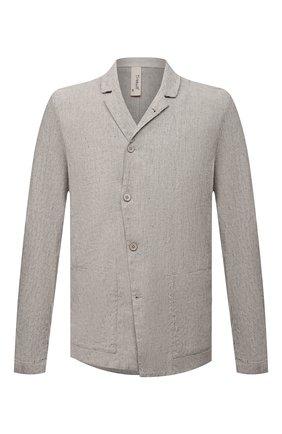 Мужской пиджак изо льна и вискозы TRANSIT светло-серого цвета, арт. CFUTRNI181 | Фото 1