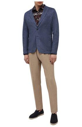 Мужская льняная рубашка BAGUTTA коричневого цвета, арт. ANDREA_EBLW/11183 | Фото 2