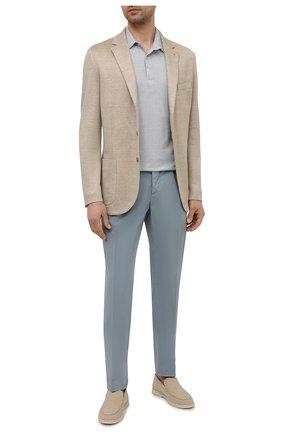 Мужские хлопковые брюки ALTEA голубого цвета, арт. 2153022 | Фото 2