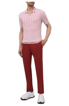 Мужские хлопковые брюки ALTEA красного цвета, арт. 2153022 | Фото 2