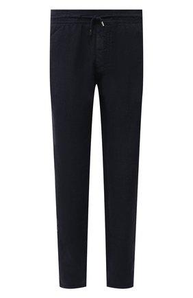 Мужские льняные брюки ALTEA темно-синего цвета, арт. 2153065 | Фото 1