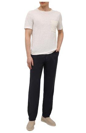 Мужские льняные брюки ALTEA темно-синего цвета, арт. 2153065 | Фото 2