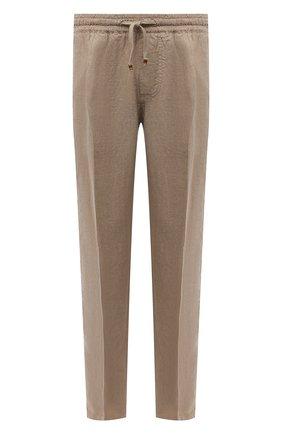 Мужские льняные брюки ALTEA бежевого цвета, арт. 2153065 | Фото 1
