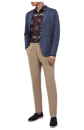 Мужские льняные брюки ALTEA бежевого цвета, арт. 2153065 | Фото 2