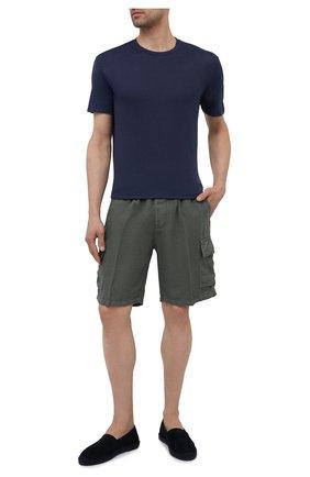 Мужские льняные шорты ALTEA темно-зеленого цвета, арт. 2153208 | Фото 2
