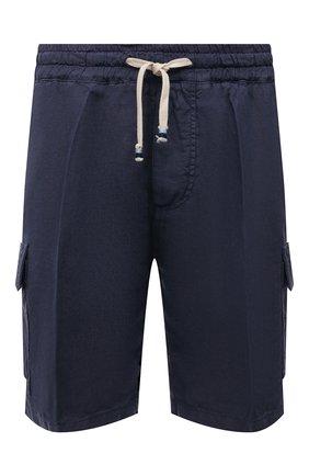 Мужские льняные шорты ALTEA синего цвета, арт. 2153208 | Фото 1