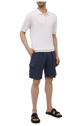 Мужские льняные шорты ALTEA синего цвета, арт. 2153208 | Фото 2