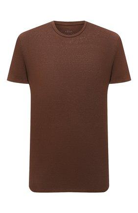 Мужская льняная футболка ALTEA коричневого цвета, арт. 2155219 | Фото 1