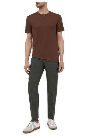 Мужская льняная футболка ALTEA коричневого цвета, арт. 2155219 | Фото 2