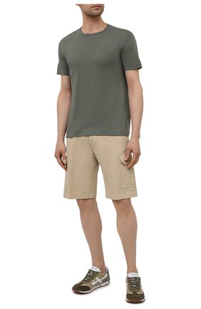 Мужская льняная футболка ALTEA хаки цвета, арт. 2155219 | Фото 2