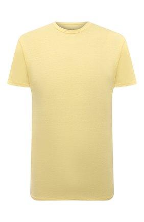 Мужская льняная футболка ALTEA желтого цвета, арт. 2155219 | Фото 1