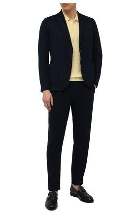 Мужские хлопковые брюки CIRCOLO 1901 темно-синего цвета, арт. CN2939 | Фото 2