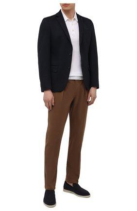 Мужские хлопковые брюки CIRCOLO 1901 светло-коричневого цвета, арт. CN2939 | Фото 2