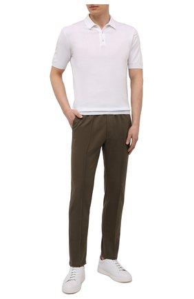 Мужские хлопковые брюки CIRCOLO 1901 хаки цвета, арт. CN2943 | Фото 2