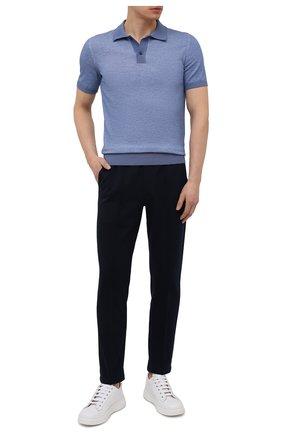 Мужские хлопковые брюки CIRCOLO 1901 темно-синего цвета, арт. CN2943 | Фото 2