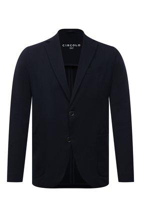 Мужской хлопковый пиджак CIRCOLO 1901 темно-синего цвета, арт. CN2965 | Фото 1