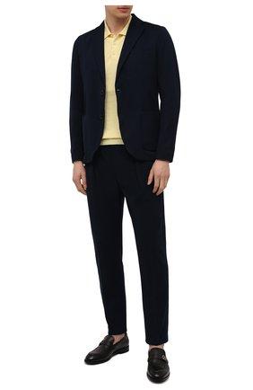 Мужской хлопковый пиджак CIRCOLO 1901 темно-синего цвета, арт. CN2965 | Фото 2