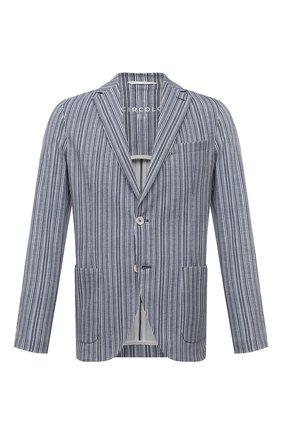 Мужской хлопковый пиджак CIRCOLO 1901 голубого цвета, арт. CN3034 | Фото 1