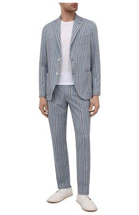 Мужской хлопковый пиджак CIRCOLO 1901 голубого цвета, арт. CN3034 | Фото 2
