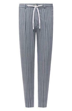 Мужские хлопковые брюки CIRCOLO 1901 голубого цвета, арт. CN3035 | Фото 1