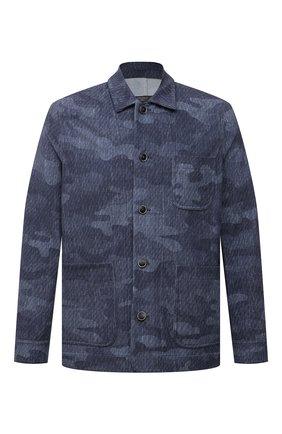 Мужская хлопковая куртка CIRCOLO 1901 синего цвета, арт. CN3074 | Фото 1