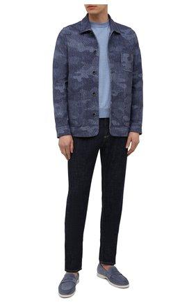 Мужская хлопковая куртка CIRCOLO 1901 синего цвета, арт. CN3074 | Фото 2