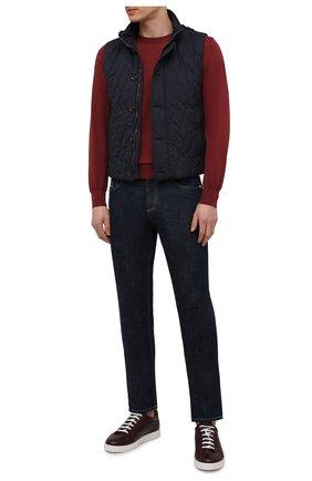 Мужской утепленный жилет gonzaga-trt MOORER темно-синего цвета, арт. G0NZAGA-TRT/M0UGL100037-TEPA032 | Фото 2 (Материал подклада: Синтетический материал; Стили: Классический; Длина (верхняя одежда): Короткие; Кросс-КТ: Куртка; Материал внешний: Синтетический материал)