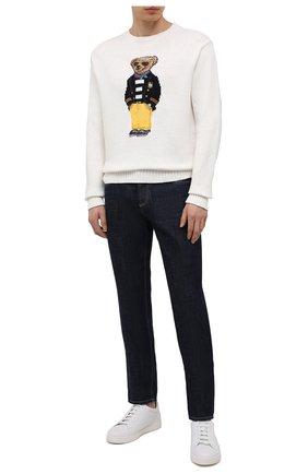 Мужской свитер изо льна и хлопка POLO RALPH LAUREN белого цвета, арт. 710834686 | Фото 2
