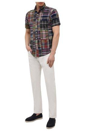 Мужская хлопковая рубашка POLO RALPH LAUREN разноцветного цвета, арт. 710837272/4624 | Фото 2
