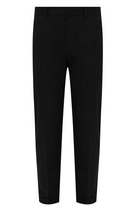 Мужские хлопковые брюки EMPORIO ARMANI черного цвета, арт. 3K1PN6/1NWWZ | Фото 1