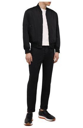 Мужские хлопковые брюки EMPORIO ARMANI черного цвета, арт. 3K1PN6/1NWWZ | Фото 2