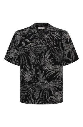Мужская рубашка из вискозы SAINT LAURENT черного цвета, арт. 531956/Y2C26 | Фото 1