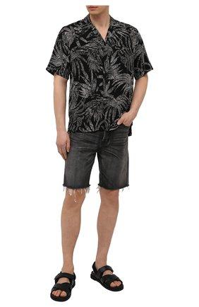 Мужская рубашка из вискозы SAINT LAURENT черного цвета, арт. 531956/Y2C26 | Фото 2