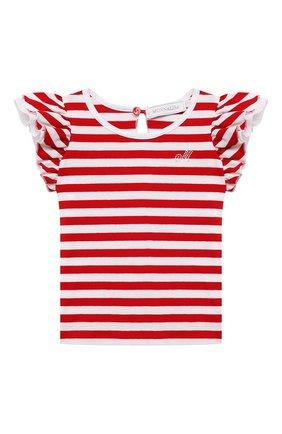 Детский хлопковая футболка MONNALISA разноцветного цвета, арт. 317611A1 | Фото 1
