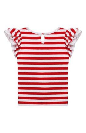 Детский хлопковая футболка MONNALISA разноцветного цвета, арт. 317611A1 | Фото 2