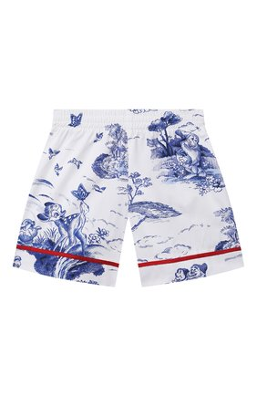 Детские хлопковые шорты MONNALISA голубого цвета, арт. 117416 | Фото 1