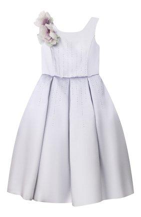 Детское платье MONNALISA светло-сиреневого цвета, арт. 777901 | Фото 1