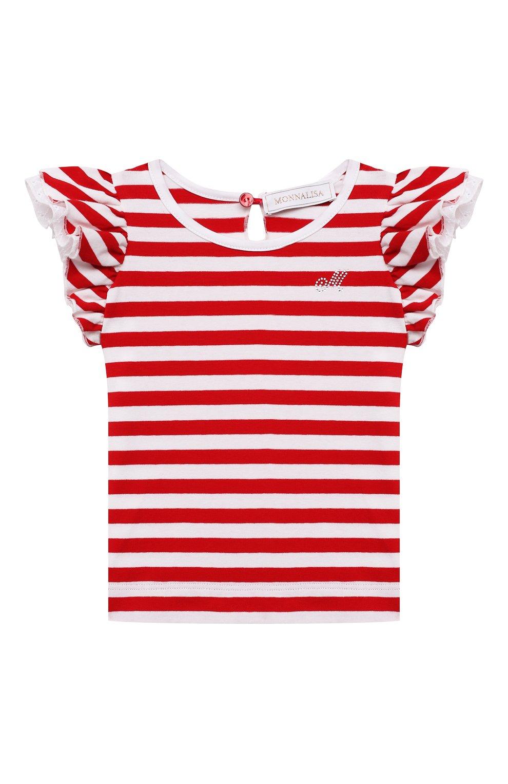 Детский хлопковая футболка MONNALISA разноцветного цвета, арт. 317611A1. | Фото 1