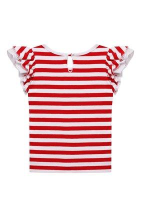 Детский хлопковая футболка MONNALISA разноцветного цвета, арт. 317611A1. | Фото 2